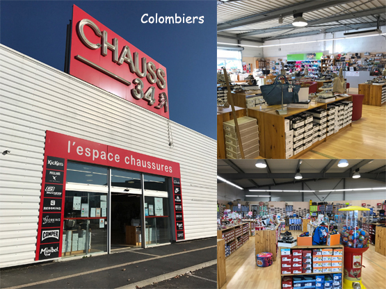 Magasin chaussures Colombiers